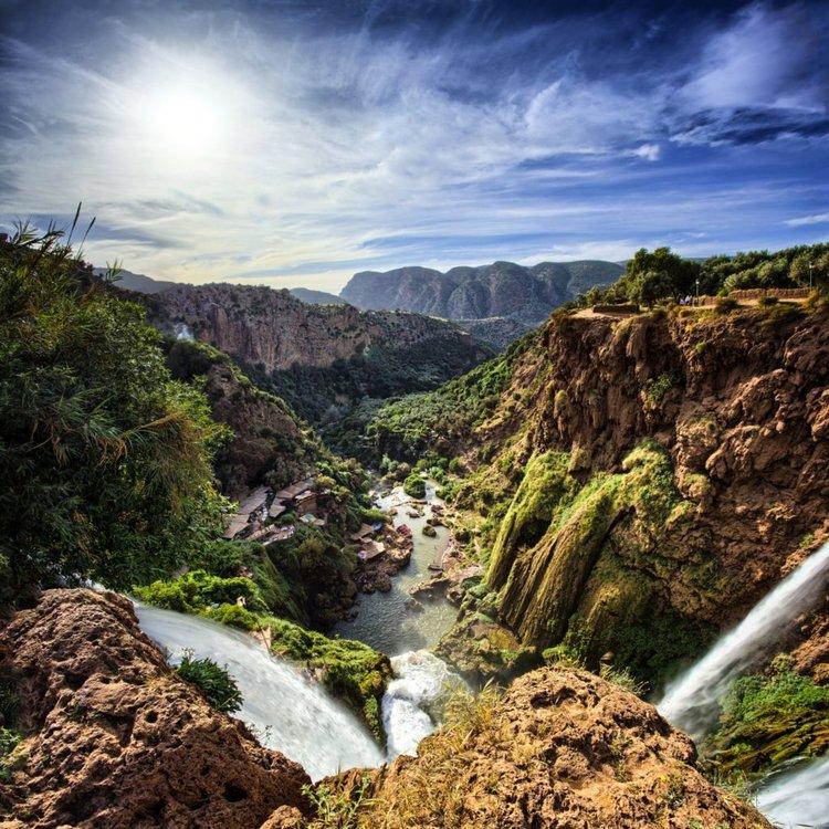 Topo da cascata de Ouzoud