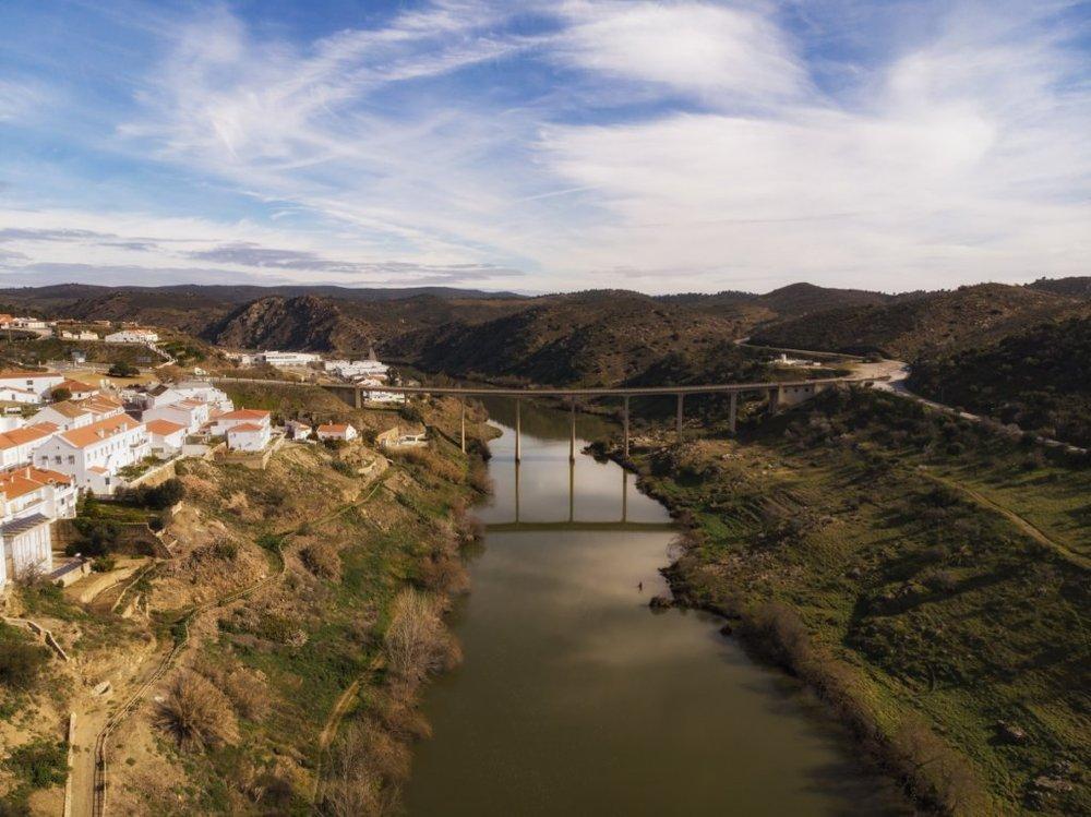 ponte sobre o Guadiana em Mértola