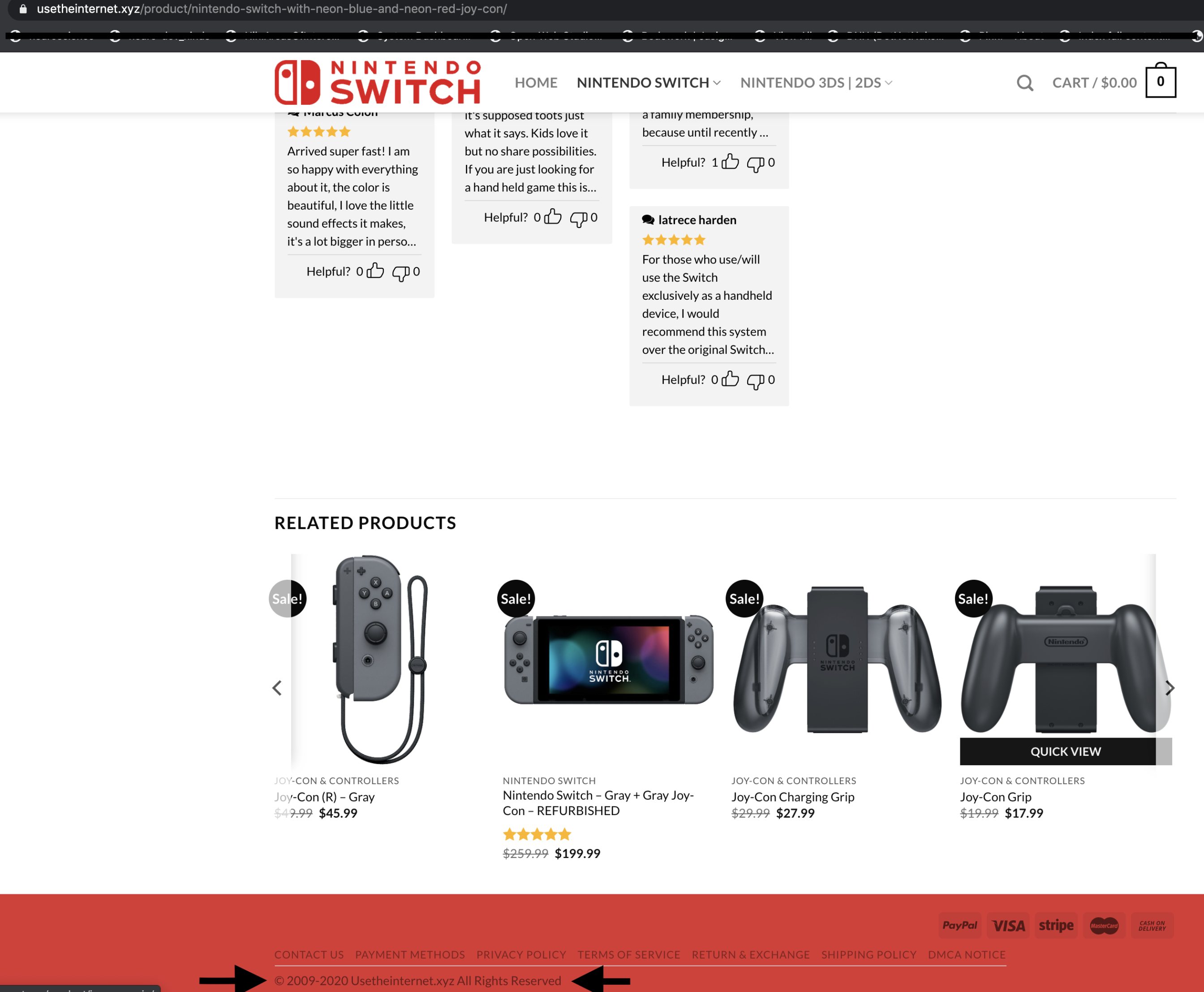 another site sells nintendo switch for $249.99