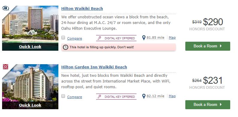 cash required at hilton wakiki beach hotel