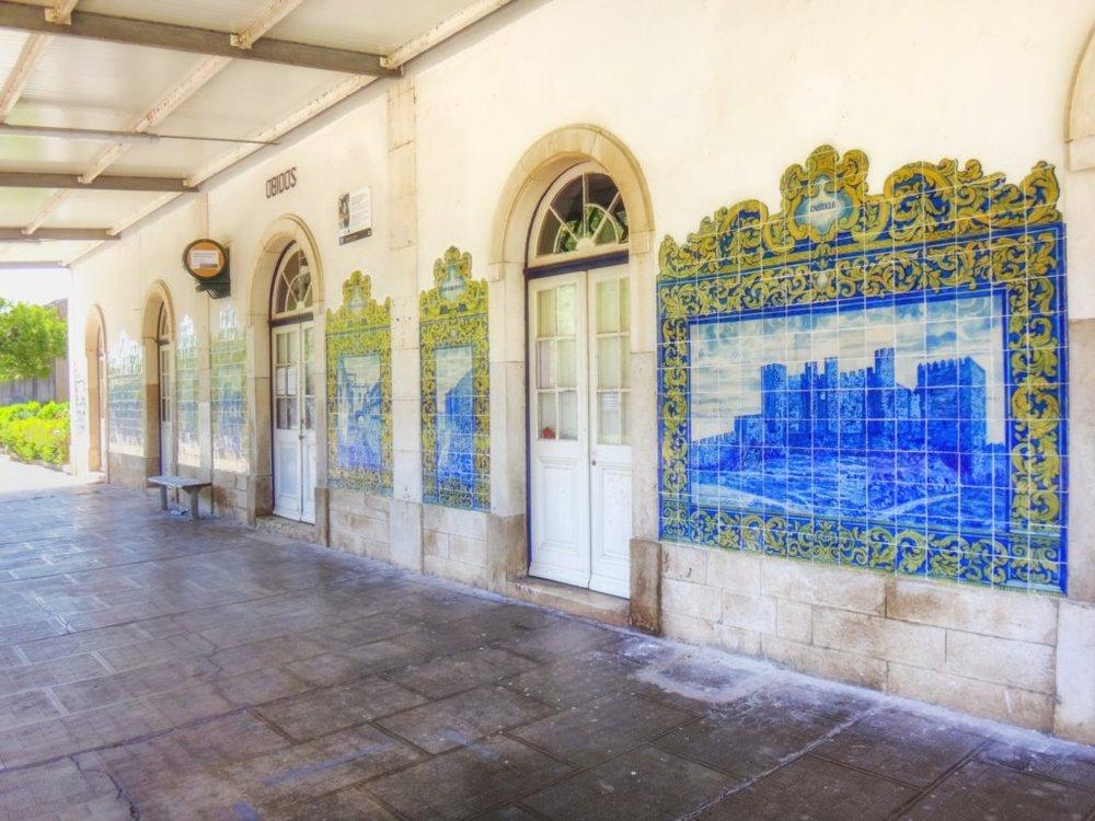 painel de azulejos da estação de Óbidos